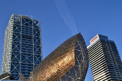 Skycrapers at Olympic Village in Barcelona, Spain Stock Photography