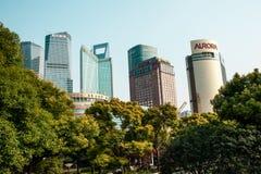 Skycrapers in Shanghai Stockbilder