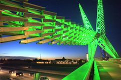 Skydance bridge over I-40 in Oklahoma City Stock Photography