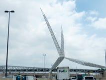 SkyDancebrug, de Stad van Oklahoma, Oklahoma Stock Afbeeldingen