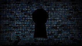 Skydd av datordata Förfrågantillträdeskod royaltyfri illustrationer