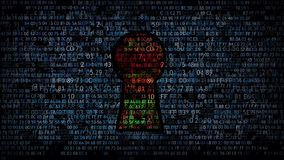 Skydd av datordata Förfrågantillträdeskod vektor illustrationer