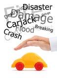 Skydd av din bil Fotografering för Bildbyråer