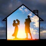 Skydd av familjevärderingar arkivbilder