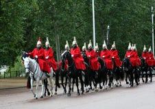 skydd den hästlondon kunglig person Arkivfoto