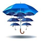 Skydd för affärsgrupp Arkivbild