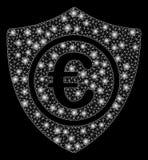 Skydd för euro för signalljusingrepp 2D med signalljusfläckar royaltyfri illustrationer