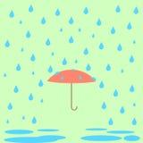 Skydd från regnet stock illustrationer