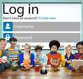 Skydd för avskildhet för internet för inloggningslösenordidentitet Conc online- Royaltyfria Foton