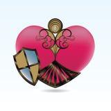 skydd hjärta Arkivbild