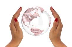 Skydda datajordklotbegreppet Arkivfoto