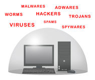 Skydda datoren Arkivbilder