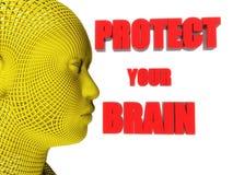 Skydda din hjärntext Royaltyfria Bilder