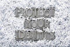 Skydda din identitet fotografering för bildbyråer