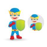 Skydda hjälten Arkivbild