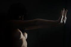 skydda sig yourself Royaltyfri Foto