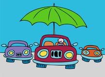 skyddad bil stock illustrationer