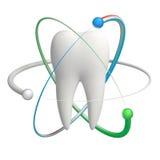 Skyddad tand - realistisk symbol för vektor 3d Royaltyfri Bild