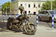 Skyddande färg för motorcykel Royaltyfria Bilder