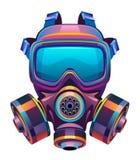 Skyddande giftlig maskering stock illustrationer
