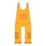 Skyddande gul total- enhetlig arbetare vektor illustrationer