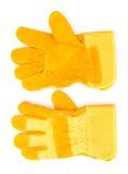 Skyddande handskar Fotografering för Bildbyråer