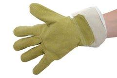 skyddande handske Arkivfoton
