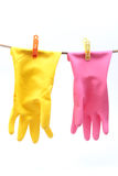 skyddande handskehushåll Arkivfoton