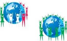 Skyddande jord för logo Royaltyfria Bilder