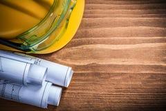Skyddande lock för för anblickkonstruktionsplan och säkerhet på woode Fotografering för Bildbyråer