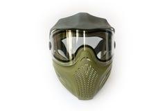 skyddande maskeringspaintball Arkivfoton