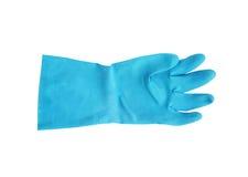 Skyddande rubber handske för hushåll som isoleras på vit bakgrund Arkivfoto