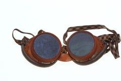 Skyddande skyddsglasögon för welders Arkivfoto