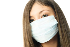skyddande slitage arbetare för sjukhusmaskering Arkivbilder