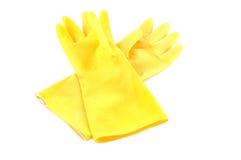 skyddande yellow för handskar Royaltyfria Foton