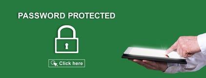 Skyddat begrepp av lösenordet royaltyfria foton