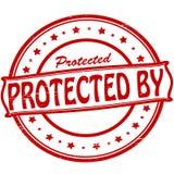 Skyddat förbi royaltyfri illustrationer