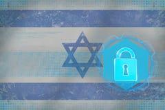 Skyddat Israel nätverk Netto skyddsbegrepp Arkivbilder