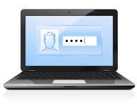 skyddat lösenord Royaltyfri Fotografi