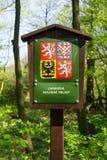 Skyddat landskapområde i Tjeckien/Czechia Arkivbild