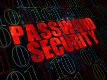 Skyddsbegrepp: Lösenordsäkerhet på Digital Royaltyfri Foto