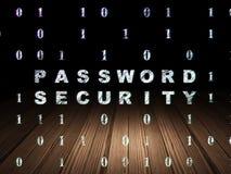 Skyddsbegrepp: Lösenordsäkerhet i grunge Arkivfoto