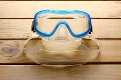 Skyddsglasögon och snorkel Arkivfoto