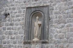 Skyddshelgon av Dubrovnik, Kroatien Arkivbilder