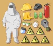 Skyddskläder och utrustning Arkivfoto