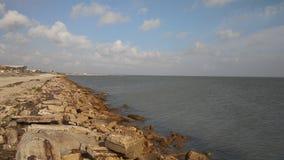 Skyddsmur mot havetvandring Arkivfoton