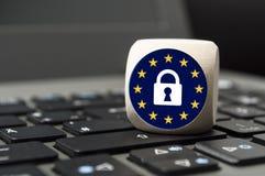 Skyddsreglering GDPR DSGVO för general data arkivfoton