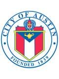 Skyddsremsa av USA staden av Austin, Texas royaltyfri illustrationer
