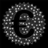 Skyddsremsa för belöning för euro för signalljusingrepp 2D med signalljusfläckar vektor illustrationer