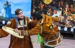 Skyddsremsa för djur för Koryak traditionell feriehav Royaltyfri Fotografi